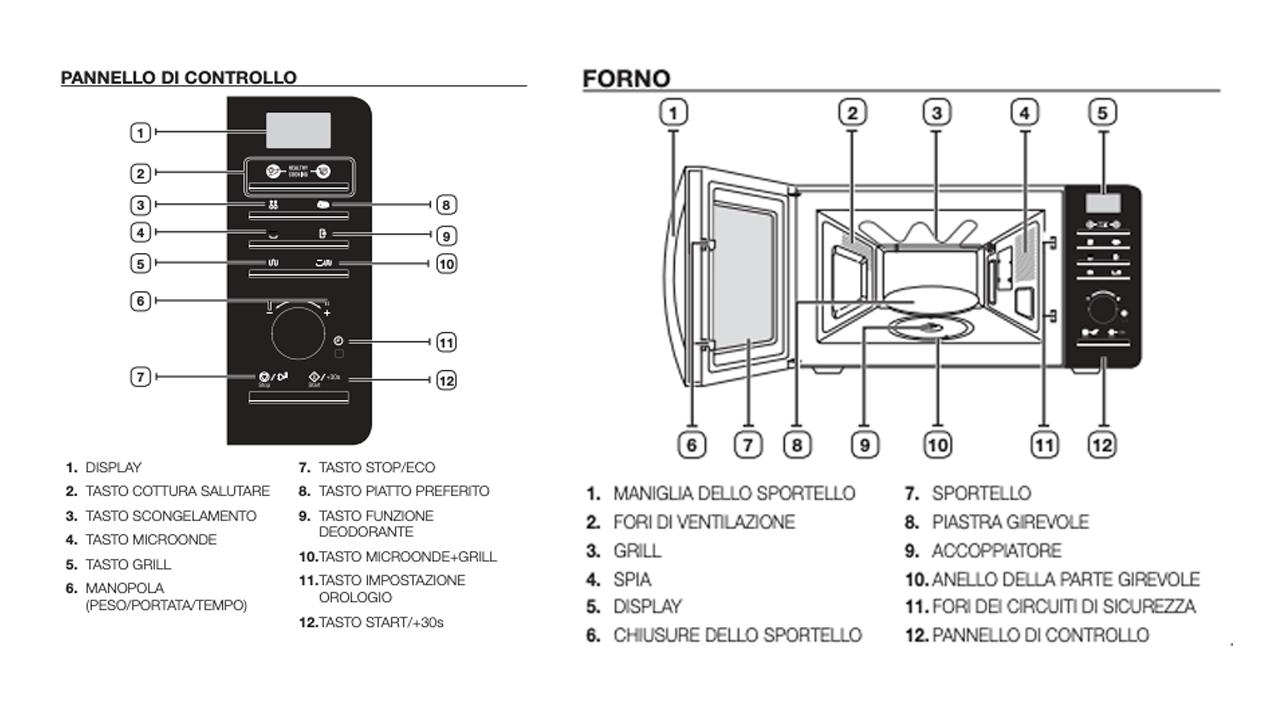 Forno Microonde Samsung MG23F302TAK