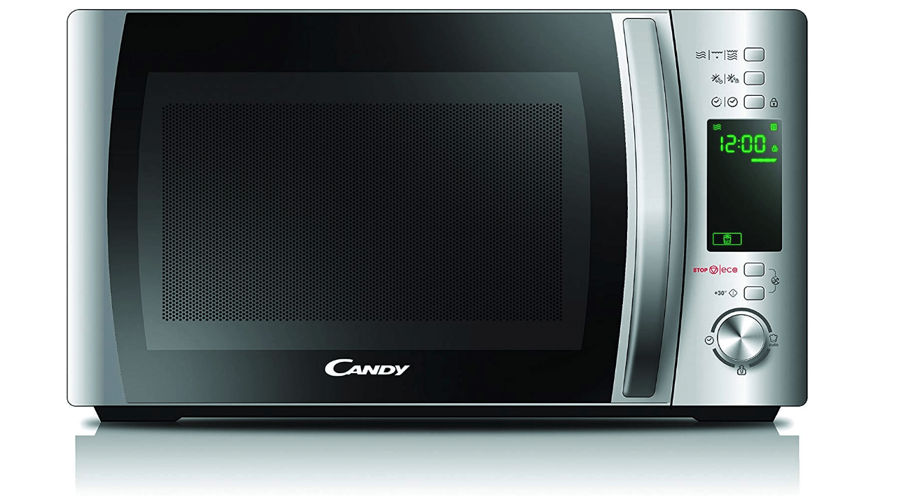 Candy Microonde CMXG20D - Grill e App Cook-in, 20L, 40 Programmi Automatici, 700 W, Argento Candy Microonde CMXG20D