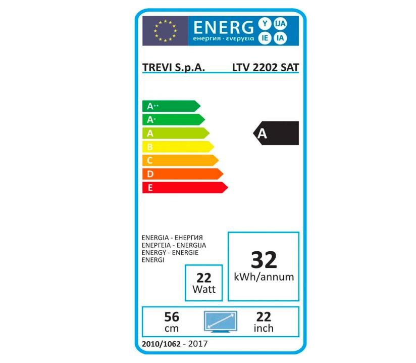 Tv Trevi 22 Pollici consumi energetici